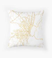 BOGOTA COLOMBIA CITY STREET MAP ART Throw Pillow