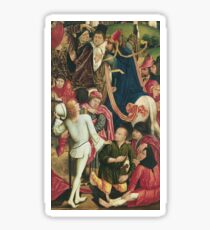 Derick Baegert - Knights And Soldiers Playing Dice For Christs Robe Sticker