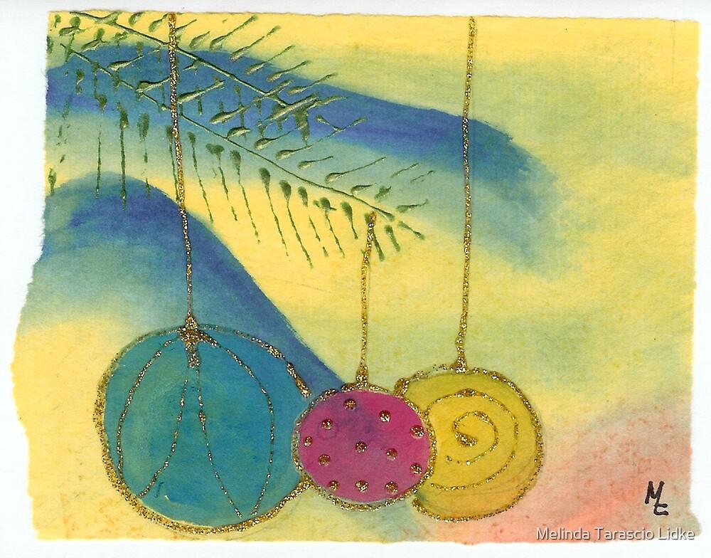 Three Ornaments 12c by Melinda Tarascio Lidke