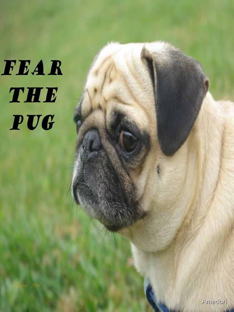 Fear The Pug T-shirt by Amedori