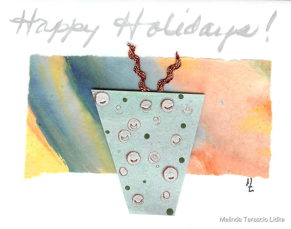 Happy Holidays Kitch 19c by Melinda Tarascio Lidke