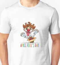 Happy Fools Day Illustration T-Shirt