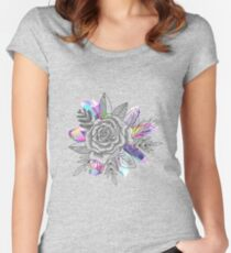 Rose and Crystals Women's Fitted Scoop T-Shirt