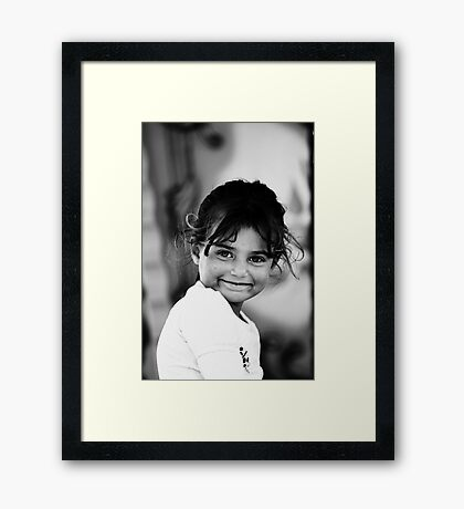 Angel smile Framed Print