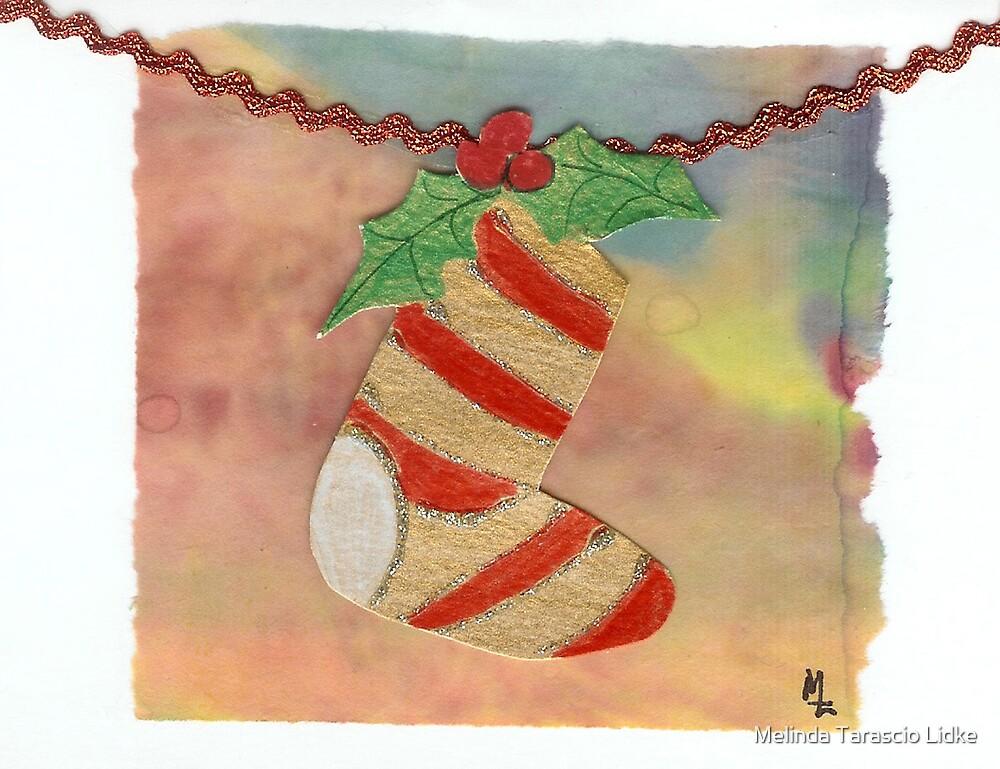 Christmas Sock Collage 5c by Melinda Tarascio Lidke