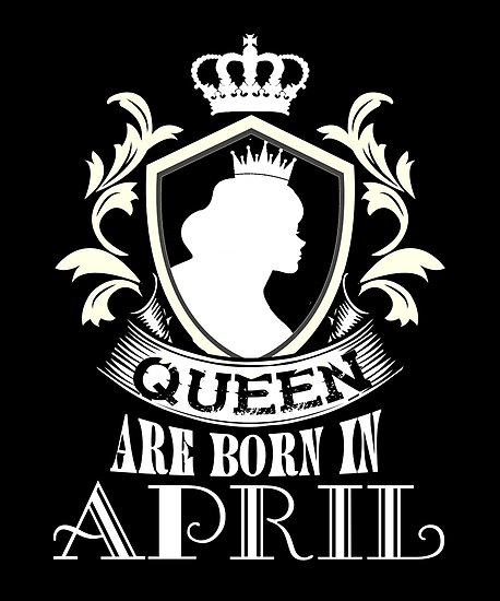 cc03cf3ea35 Women s Queens Are Born In April - Birthday T Shirt