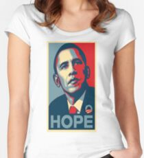 Obama Hope Women's Fitted Scoop T-Shirt