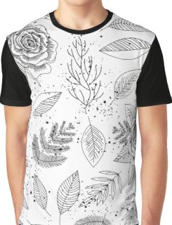 Roses pattern in b&w Graphic T-Shirt