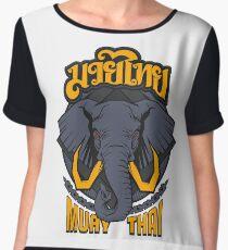 Muay Thai Beast Elephant - Thailand Martial Art  Chiffon Top