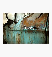 Rusty Studebaker Champ Pickup Detail Photographic Print