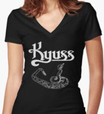 Kyuss snake Women's Fitted V-Neck T-Shirt