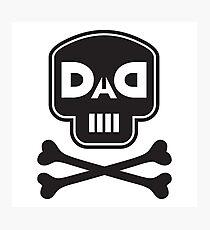 DAD - Skull Crossbones Photographic Print