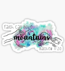 Matthew 17:20 Colorful Sticker