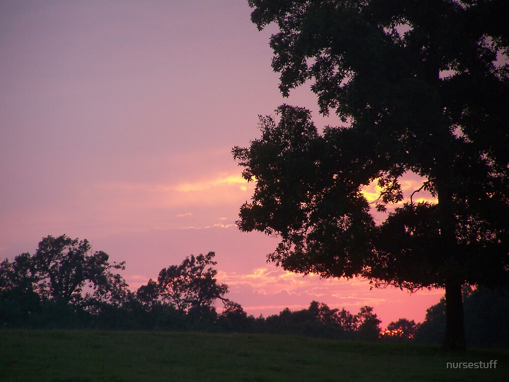 Peek a boo sunset. by nursestuff