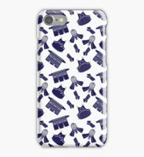 Kendo Bogu Mosaic Pattern White & Blue iPhone Case/Skin