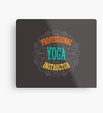 Yoga Instructor Metal Print
