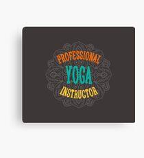 Yoga Instructor Canvas Print