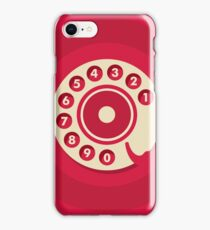 Vintage Red Telephone iPhone Case/Skin
