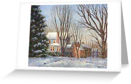 Blue House in Winter by Susan Savad