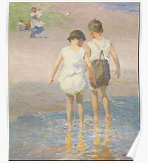 Edward Henry Potthast - Brother And Sister Circa 1915 Poster