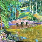 Stone Bridge #2 Tamborine by Virginia McGowan