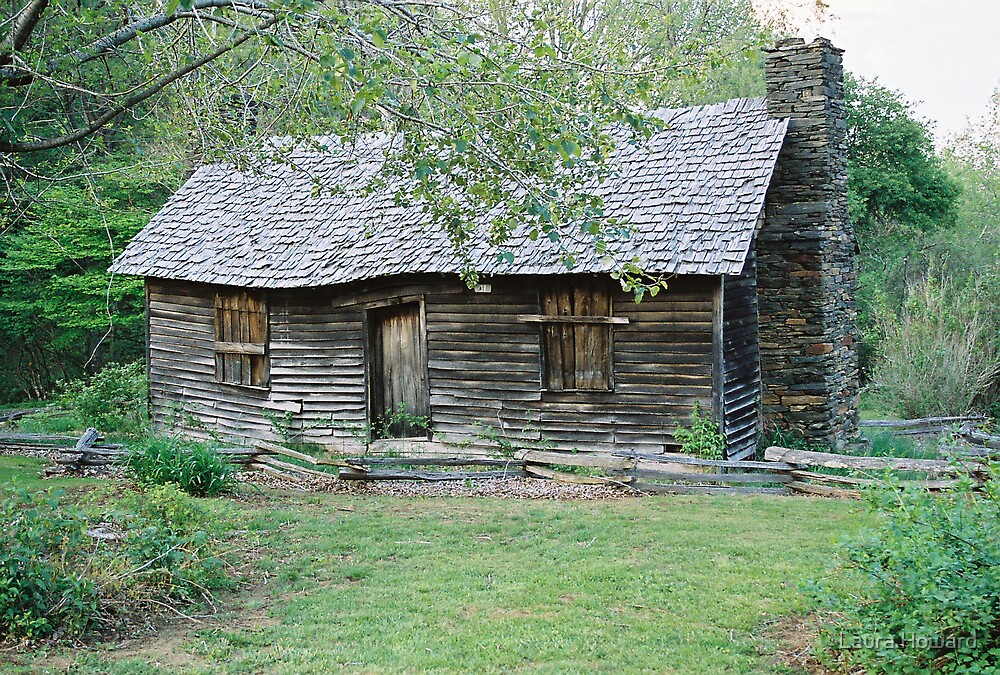Rocky Knob Cabin - Blue Ridge Parkway by Laura Howard