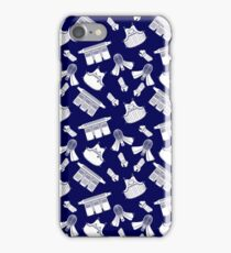 Kendo Bogu Mosaic Pattern Blue & White iPhone Case/Skin