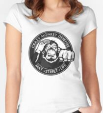 Crazy Monkey Geometric (V.1)  Women's Fitted Scoop T-Shirt