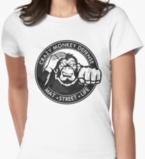 Crazy Monkey Geometric (V.1)  Womens Fitted T-Shirt