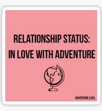Relationship Status: In Love With Adventure Design Sticker
