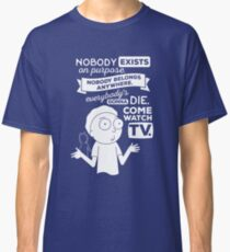 Rick and Morty Schwifty Wubba Lubba Fair Use Nobody Exists on Purpose Classic T-Shirt