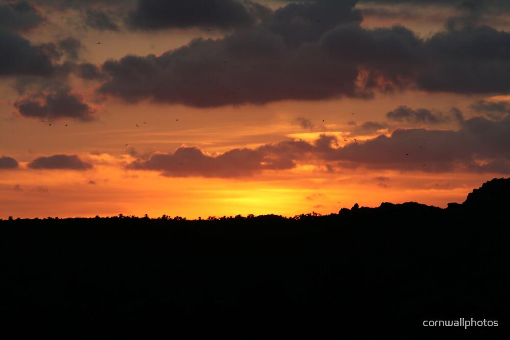 Red sun set by cornwallphotos