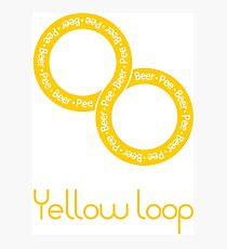 Yellow loop Photographic Print