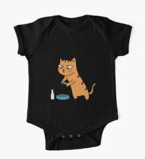 Foodie Cat One Piece - Short Sleeve