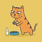Foodie Cat by cartoonbeing