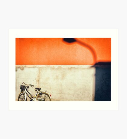 Bicycle and shadow Art Print