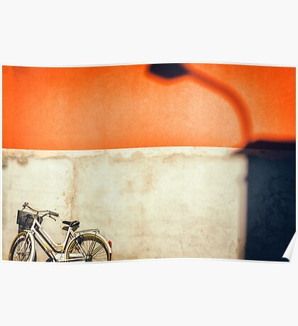 Bicycle and shadow Poster