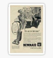 Sexist 1938 Advert Suction Cleaner Sticker