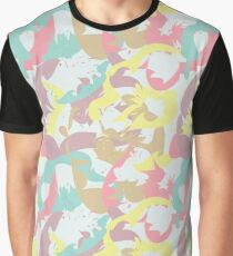 Abstract seamless pattern with floral silhouettes Graphic T-Shirt