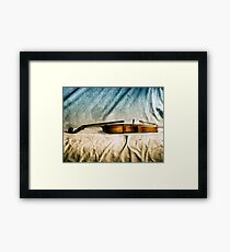 Violin in Repose  Framed Print