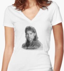 Billy Ray Cyrus Sweet Niblets  Women's Fitted V-Neck T-Shirt
