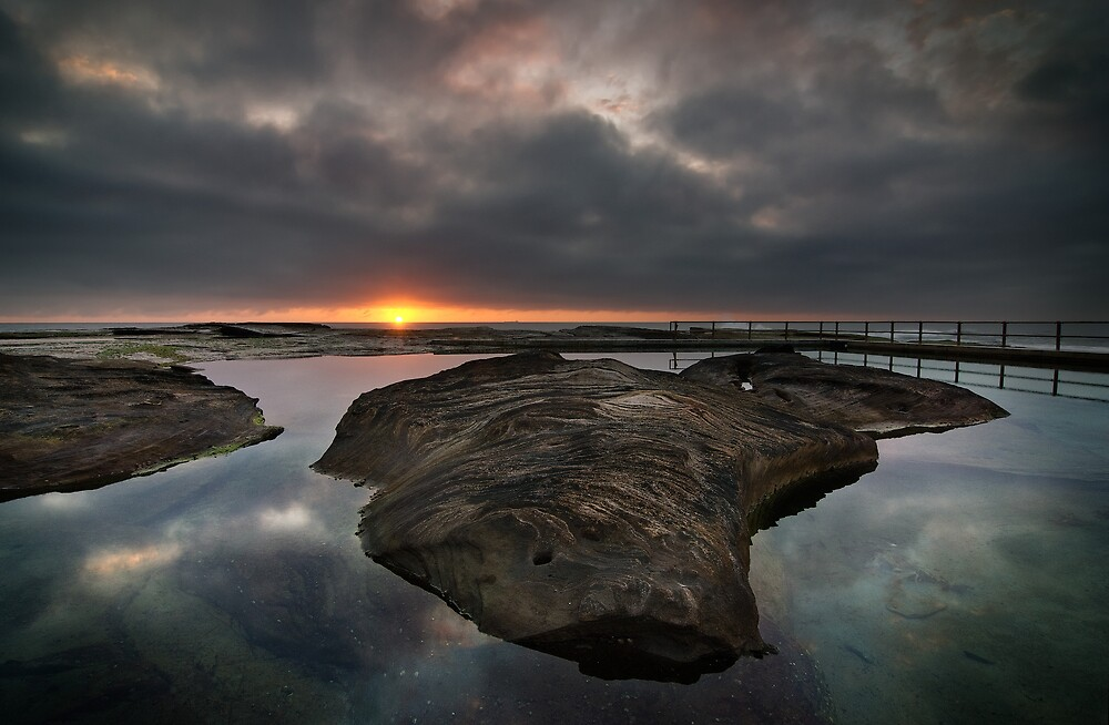 North Curly Rock Pool at Dawn by Brent Pearson