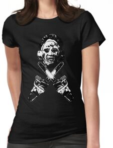 Leather Face  Womens Fitted T-Shirt