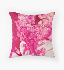 Fluid Expressions -  Fuscia III Throw Pillow