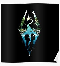 Skyrim - Dragonborn Logo Edit Poster