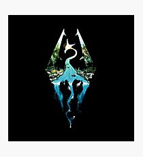 Skyrim - Dragonborn Logo Edit Photographic Print
