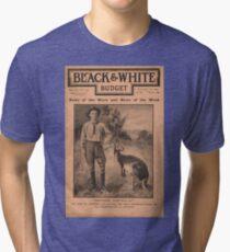 Advance Australia! Cover of Black & White Budget October 1900 Tri-blend T-Shirt