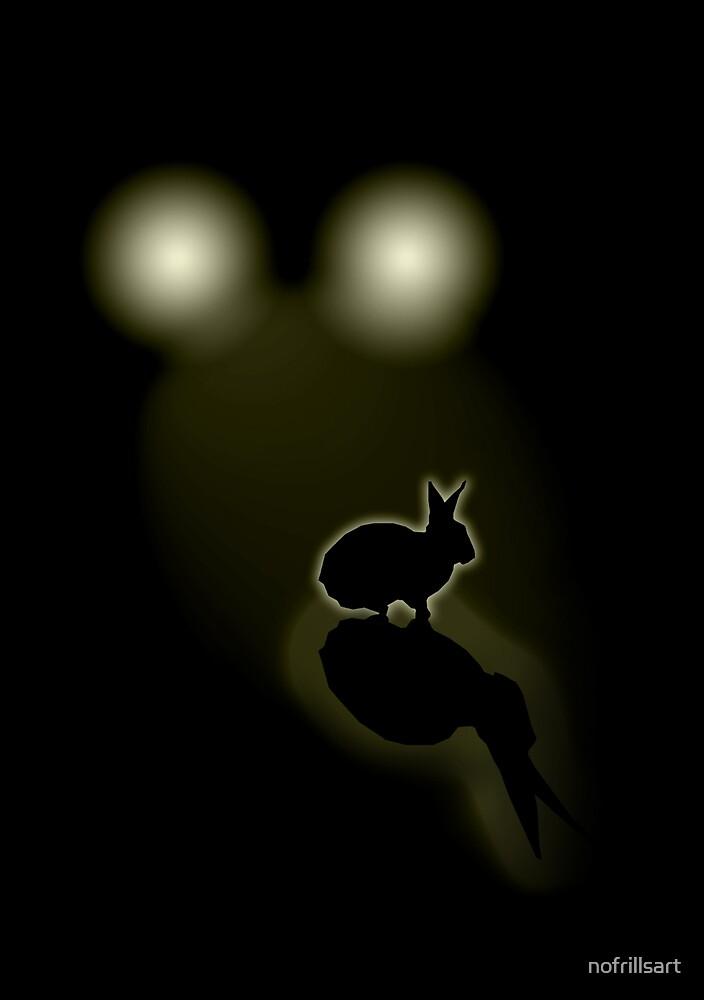 Rabbit in your headlights (Card) by nofrillsart