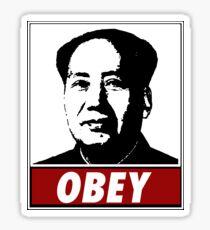 Mao Zedong Obey Sticker