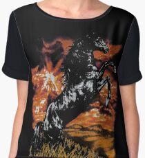 Charlie Horse T-Shirt Women's Chiffon Top
